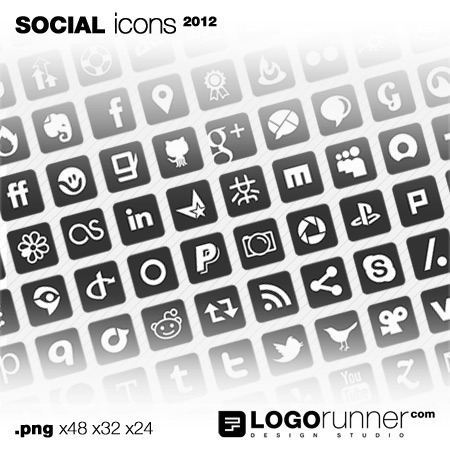 social media icons square-grey
