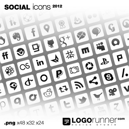 social media icons square-white