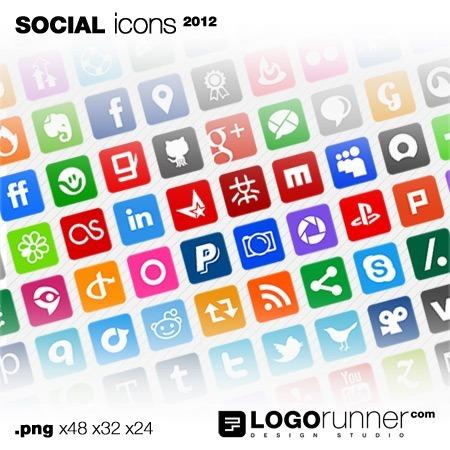 social media icons-square