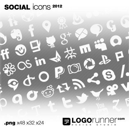 social bookmark icons-white
